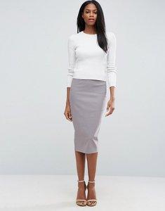 Read more about Asos high waist longerline pencil skirt - mink