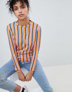 Read more about Daisy street long sleeve t-shirt in neon stripe - multi stripe