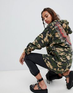 Read more about Asos design camo embellished parka - multi