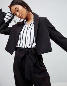 Read more about Asos design mix match crop blazer - black
