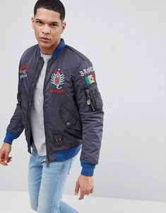 Read more about Diesel w-questry embroidered logo bomber jacket - black 900