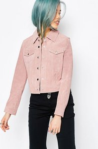 Read more about Asos western jacket in suede - blush