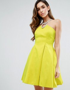 Read more about Forever unique neckless halter dress - lime