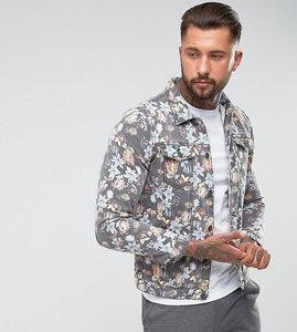 Read more about Liquor n poker floral denim jacket - black