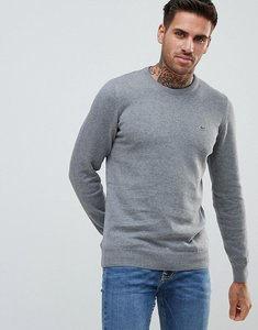 Read more about Lacoste logo knitted jumper in dark grey marl - rqx
