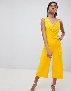 Read more about Lavish alice cowl neck culotte jumpsuit - yellow