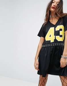 Read more about Asos punk sports mesh smock dress - black