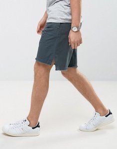 Read more about Asos oversized shorts with rip and repair details and raw edge - grey