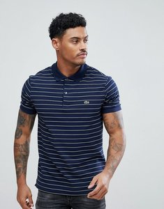 Read more about Lacoste stripe logo polo in navy - bug