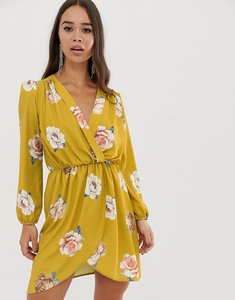 Read more about Love wrap over floral dress in mustard