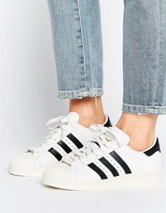Read more about Adidas superstar 80s premium snake print trainer - crywht cblack