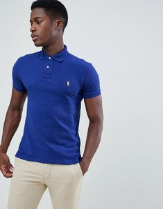 Read more about Polo ralph lauren slim fit pique polo player logo in dark blue - fall royal