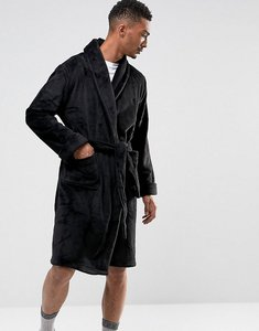 Read more about French connection fleece dressing gown - black
