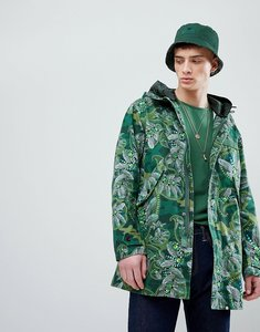 Read more about Pretty green x katie eary toria aop cassidy parka jacket in green - green