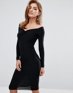 Read more about Club l bardot ruched detail dress - black