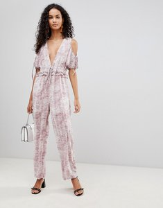 Read more about Glamorous cold shoulder jumpsuit - washed purple