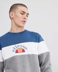 Read more about Ellesse colour block sweat in grey - grey