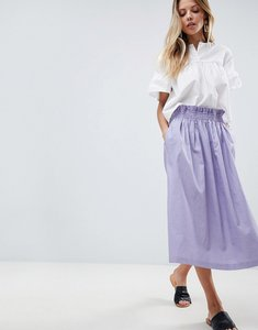 Read more about Asos tailored linen prom skirt - lilac