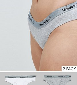 Read more about Reebok two pack sports boy brief - grey white