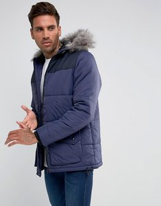Read more about Another influence hooded quilted coat - navy