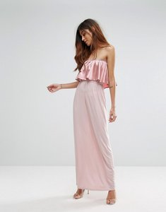 Read more about Oh my love frill front maxi dress - pink blush