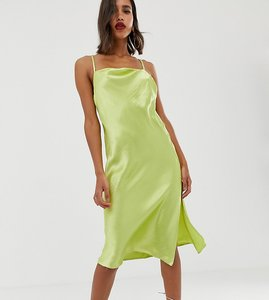 4fc114be8e Read more about Asos design cami midi slip dress in high shine satin with  strappy back