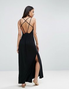 Read more about Asos strappy back maxi sundress - black