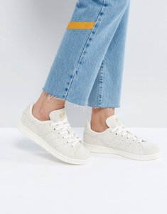 Read more about Adidas originals off white suede stan smith trainers - chalk white