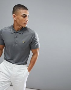 Read more about Lyle scott golf hawick tech polo shirt in grey - slate