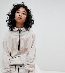 Read more about Ivy park logo hoodie in oatmeal - beige