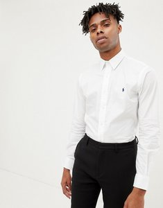 Read more about Polo ralph lauren slim fit poplin shirt player logo phillip collar in white - white