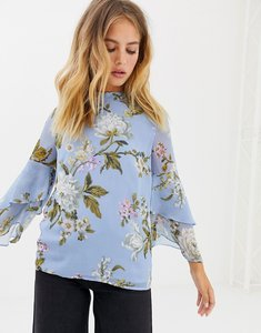 Read more about Warehouse floral print blouse - blue
