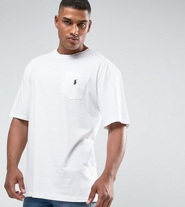 Read more about Polo ralph lauren tall crew neck t-shirt with logo in white - white