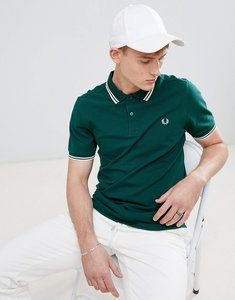 Read more about Fred perry twin tipped polo in green - 406