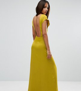 Read more about Asos tall open square back maxi dress - yellow