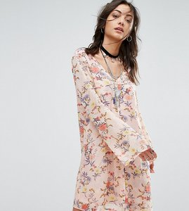 Read more about Glamorous tall button front dress in floral print - multi