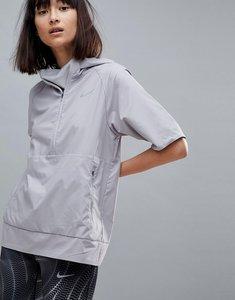 Read more about Nike running flex essential short sleeve jacket in grey - atmosphere grey ref