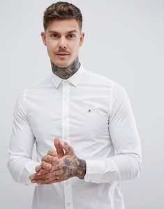 Read more about Replay slim stretch poplin shirt in white - white
