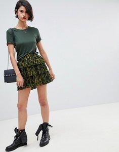 Read more about Vero moda animal print skirt - dark olive