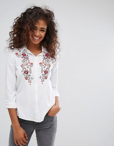 Read more about Esprit floral embroidered shirt - white