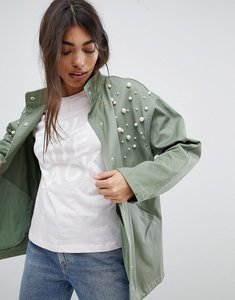 Read more about Asos design pearl jacket - khaki