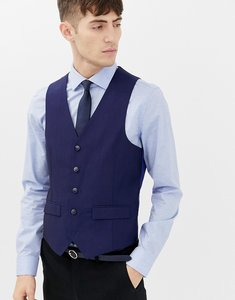 Read more about Harry brown blue tonic waistcoat - blue