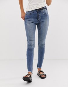 Read more about One teaspoon bite me embroidered slogan skinny jeans