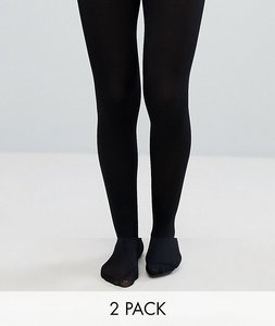 Read more about Asos 2 pack 80 denier tights - black