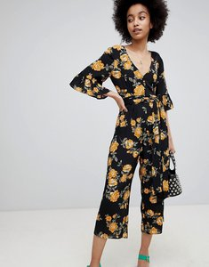 Read more about Miss selfridge floral print culotte jumpsuit - multi
