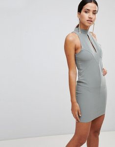 Read more about Love key hole bodycon dress - sage