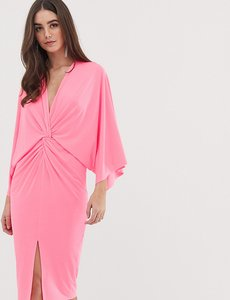 Read more about Flounce london tall kimono midi dress in neon pink