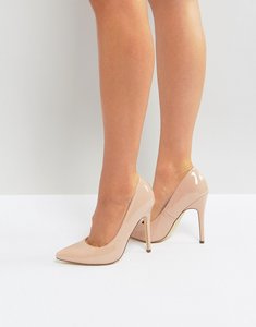 Read more about London rebel full point high heels - nude patent