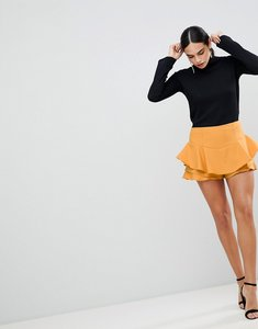 Read more about Ax paris ruffle mini skirt - mustard