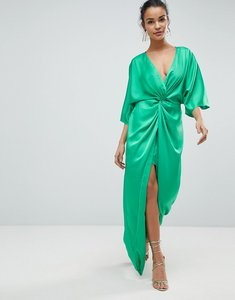 Read more about Asos kimono twist front maxi dress - bright green
